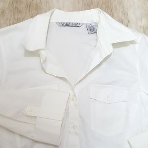 Signature White Collar Roll Sleeve Shirt